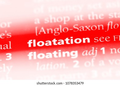 floatation word in a dictionary. floatation concept