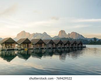Floating Bungalows at Khao Sok National Park