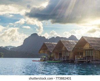 Floating Bungalows at Khao Sok National Park, Surat Thani, Thailand