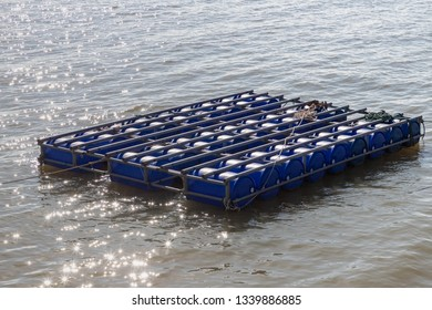 Floating buoy made of plastic tank, Recycling plastic tank by making a floating pontoon.