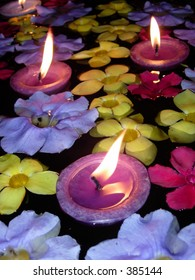 Floating Candle and Flower