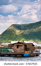 Floating fishing village on Taal lake, Philippines