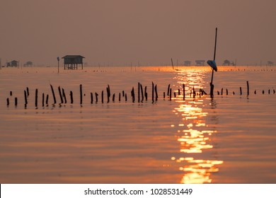 Floating Fishing-hut sunset