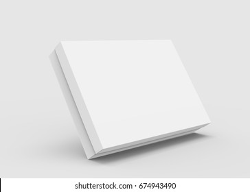 floating flat blank box for design in 3d rendering