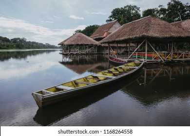 Floating houses of the amazonas