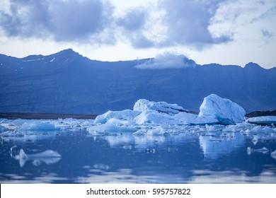 floating Iceberg lake in Iceland