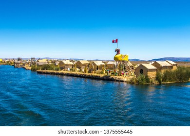 Floating islands at Titicaca lake