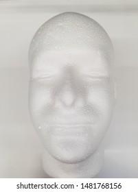 Floating Male styrofoam head - creepy Halloween