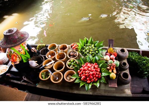 floating market near Bangkok, Thailand