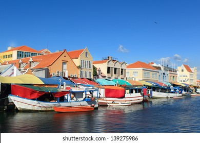 Floating market at willemstad-curacao