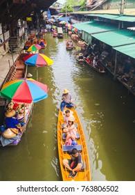 Floating Markets in Bangkok, September 2016