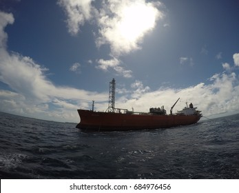 The Floating Storage Offshore Facility in the middle of the ocean
