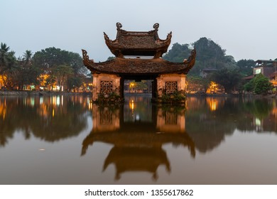Floating temple in Thay Pagoda or Chua Thay, one of the oldest Buddhist pagodas in Vietnam, in Quoc Oai district, Hanoi