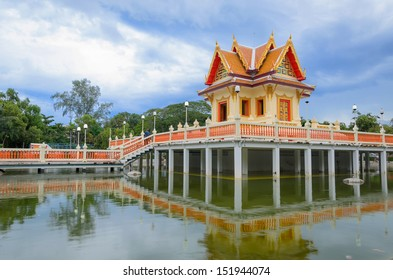 Floating Thai style pavilion in east of Thailand