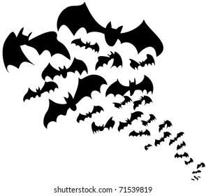 flock of bats halloween decoration - Halloween Pictures Bats