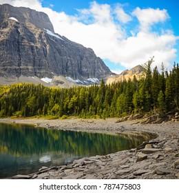 Floe Lake in Summer in Kootenay National Park British Columbia, Canada