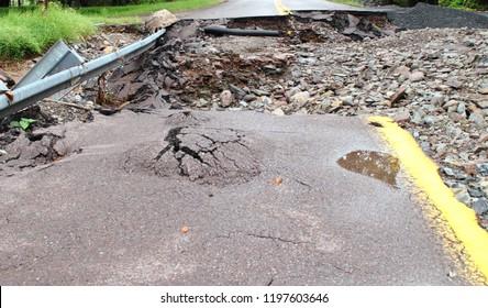 Flood Damage Street