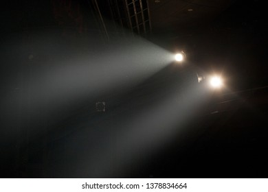 flood lights at the theater