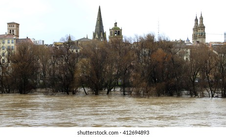 flood in logrono (La Rioja)