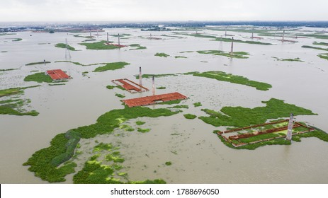 Flood situation has been further worsen in Munshiganj, Bangladesh .The flood situation in Munshiganj is unchanged. Heavy current is being created in the Padma River as the river has been flowing over