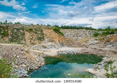 Flooded quarry in beautiful countryside
