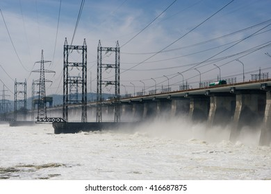 floodgate of the Volga Hydroelectric Station