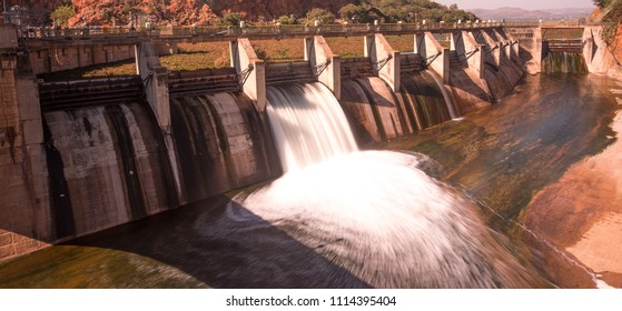 Floodgates of Hartbeespoort Dam, South Africa.