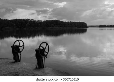 floodgates pond Svet, Trebon, Czech republic