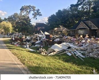 Flooding clean up after Hurricane Harvey in Houston, Texas.