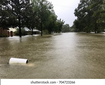 Flooding from Hurricane Harvey in Spring Texas, a couple miles north of Houston.