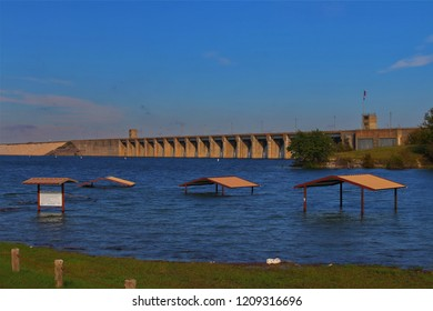 Flooding in North Central Texas at Lake Whitney near Waco