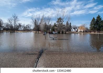 Flooding in North Dakota.