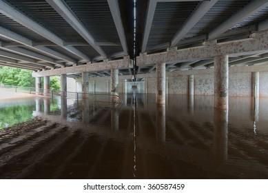 Flooding on the Wichita River in Wichita Falls, TX