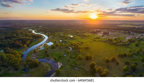 Floodplain of belarusian river Ubarc' (Ubort)