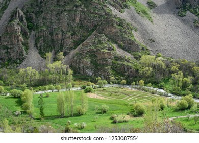 floodplain in a mountain valley, Armenia