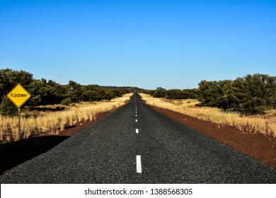 Floodway isolated road in Australia