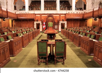 The Floor of the Canadian House of Parliament.