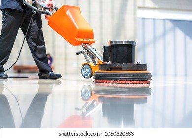 Floor care and cleaning services with washing machine