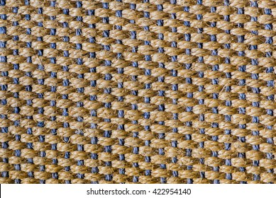Floor, carpet of sisal in blue and brown, background.