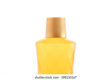 floor cleaning bottle on white background