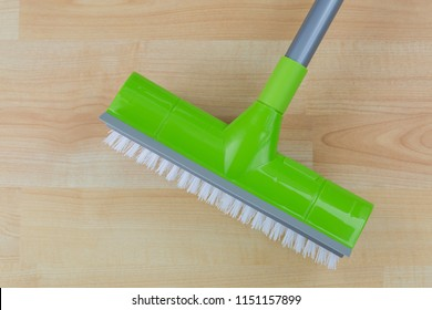 Floor cleaning hard Brush with dryer squeegee, sharp rubber edge for swipe cleaning