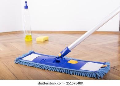 Floor cleaning mop, sprayer and sponge