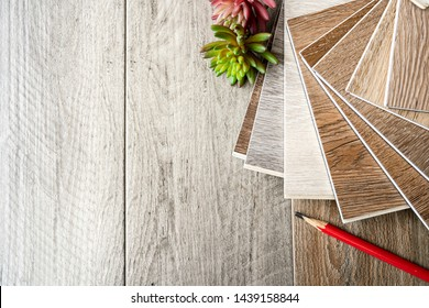 Floor decoration design idea items selection between ceramic tiles design and luxury vinyl wood tiles style
