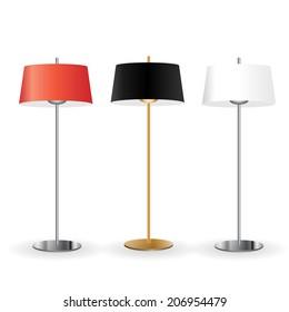 Floor lamps set, illustration