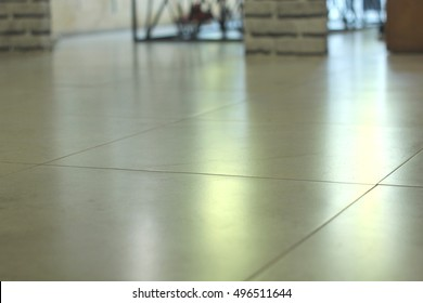 Floor with light reflection.