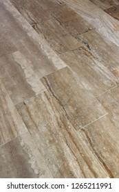 floor made of rectangular marble slabs
