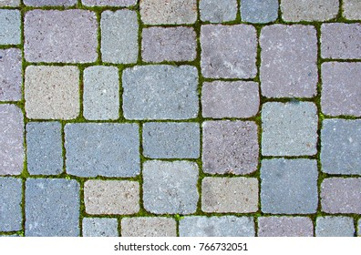 Floor outdoor tiles in different shapes and size