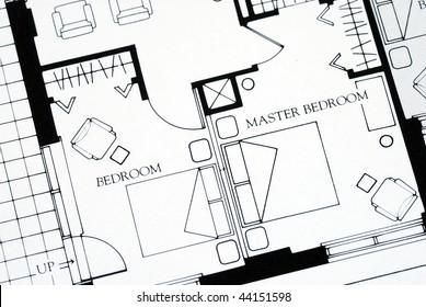 A floor plan focused on the master bedroom
