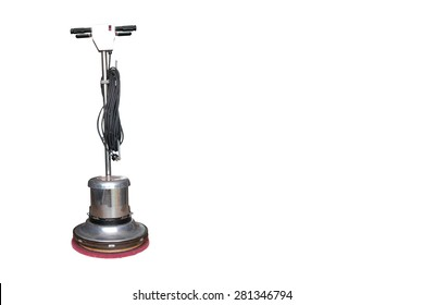 Floor scrubber isolated on white background. clipping path in picture.