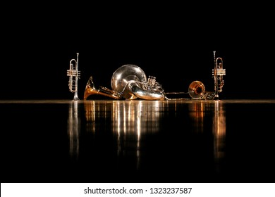 The floor that light reflects and brass quintet